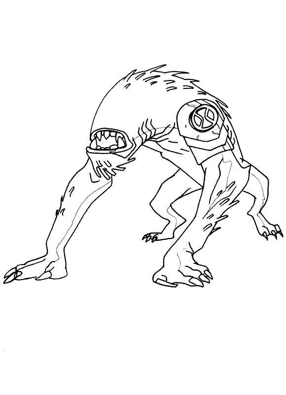 Ben 10 Coloring Pages Wild Mutt