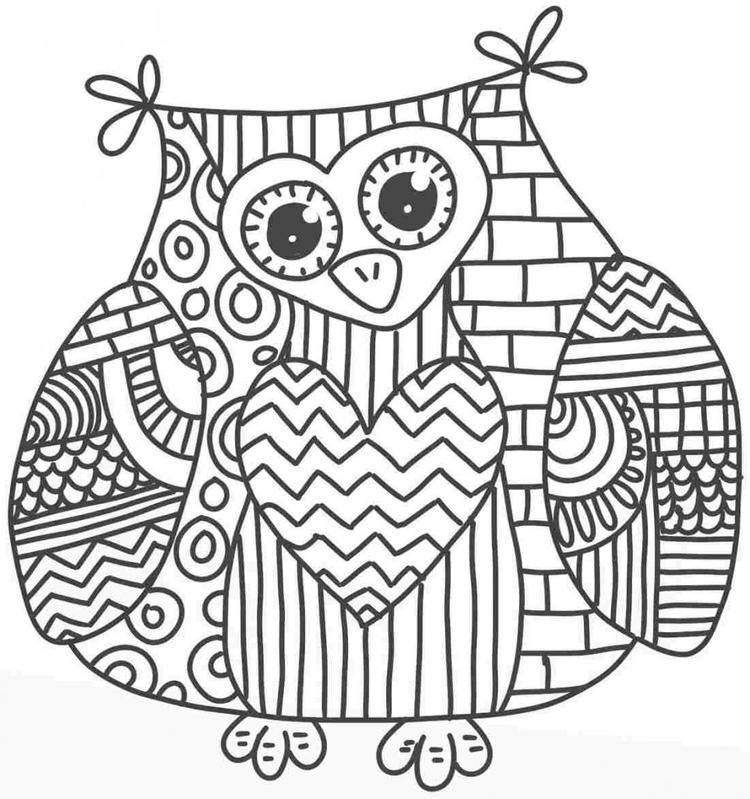 Best Adult Coloring Pages Printable Owl