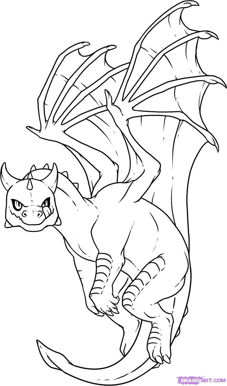 Best Baby Dragon Coloring Pages