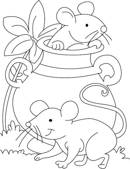 Best Baby Mouse Coloring Sheet