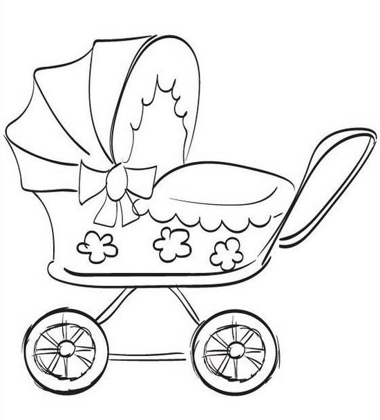 Best Baby Stroller Coloring Page