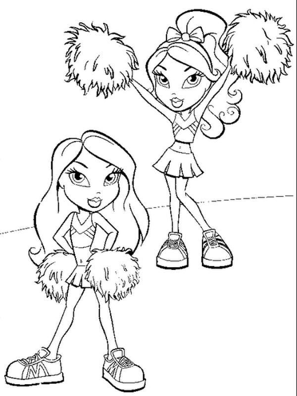 Best Bratz Cheerleading Coloring Pages 1