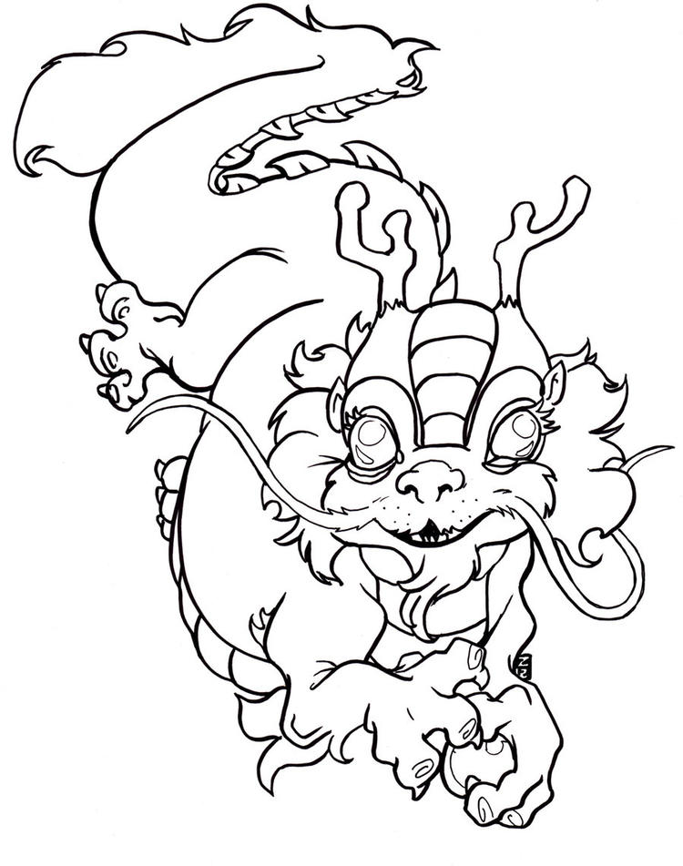 Best Chinese Dragon Coloring Pages