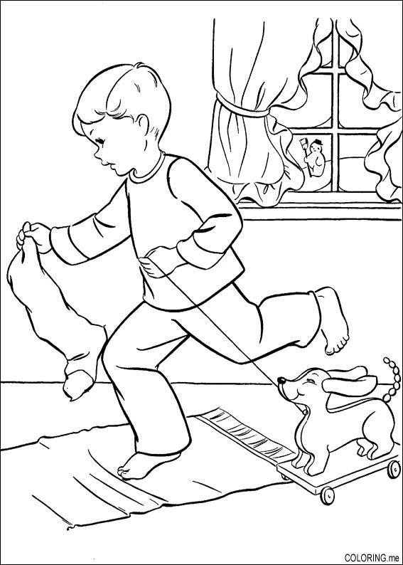 Best Christmas Dog Coloring Pages