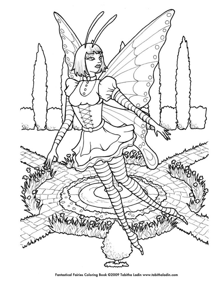 Best Coloring Pages For Teenagers Difficult Fairy