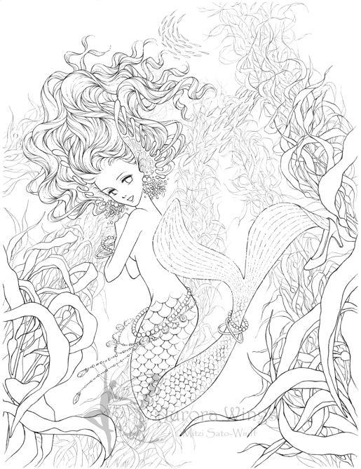 Best Coloring Pages For Teenagers Difficult Mermaid 1