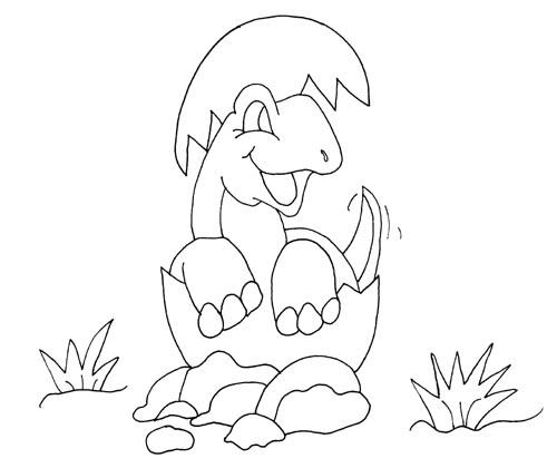 Best Cute Baby Dinosaurs Coloring Pages 1