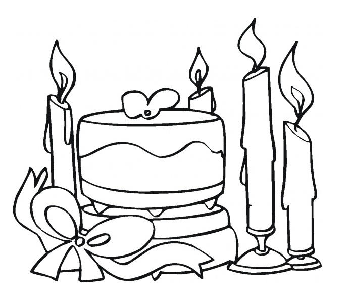 Best Cute Cake Coloring Pages