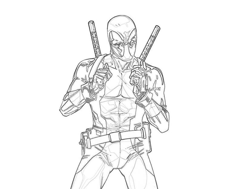 Best Deadpool And Spiderman Coloring Pages