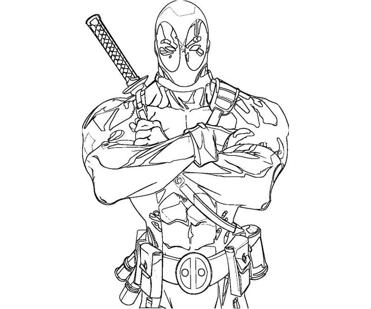Best Deadpool Coloring Pages