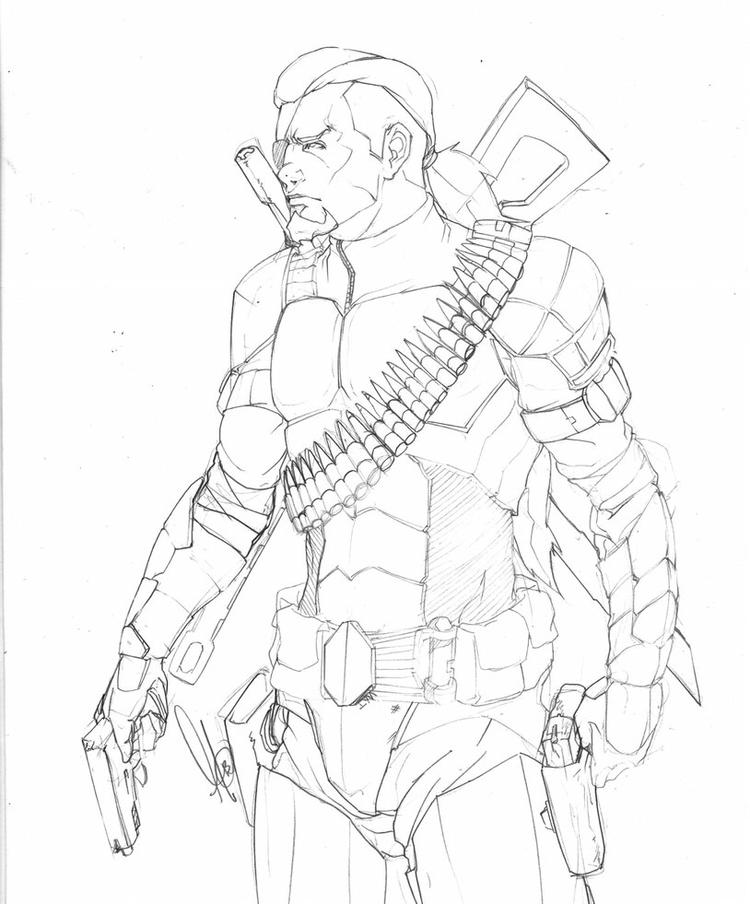 Best Deathstroke Coloring Pages Arkham Origins 1 Coloring