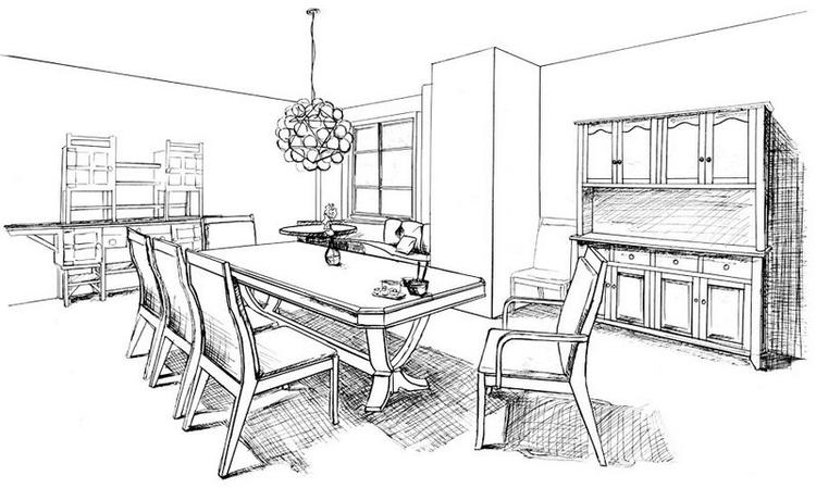 Best Dining Room Coloring Page
