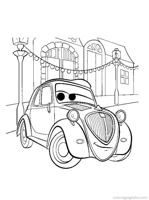 Best Disney Cars Coloring Pages