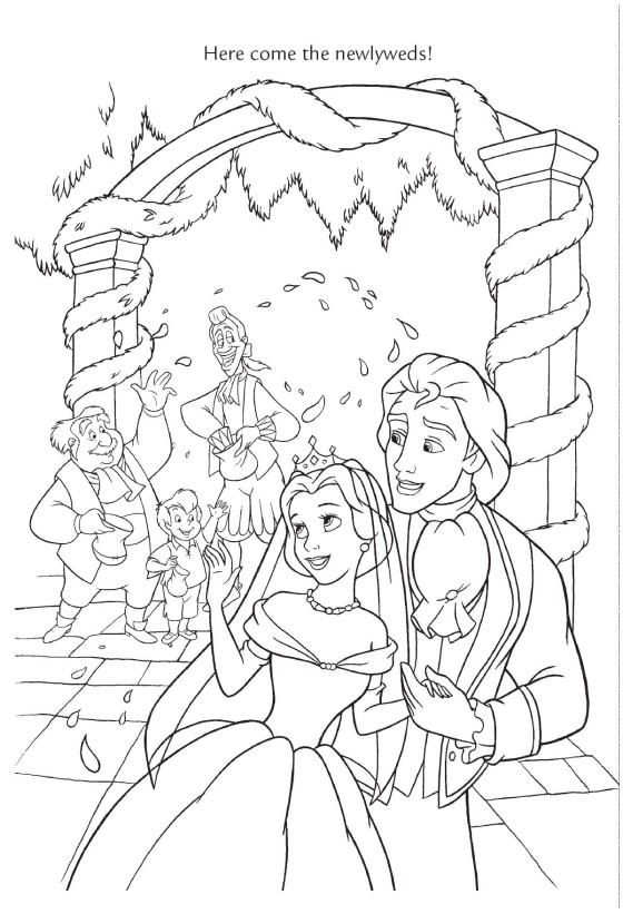 Best Disney Wedding Coloring Pages