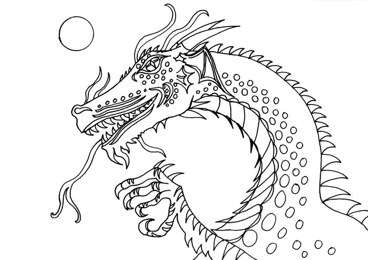 Best Dragon Head Coloring Pages 1