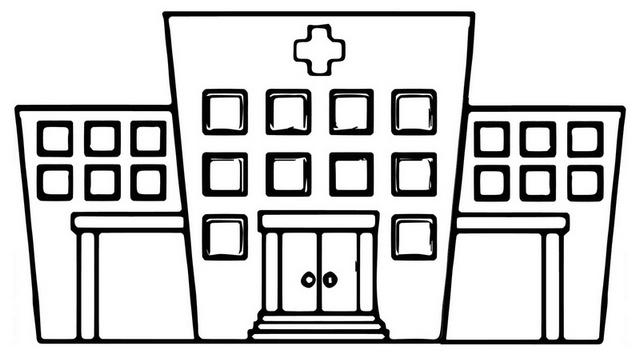Best Emergency Hospital Coloring Page
