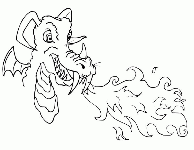 Best Fire Dragon Coloring Pages 2