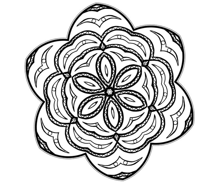 Best Free Simple Mandala Coloring Pages 1