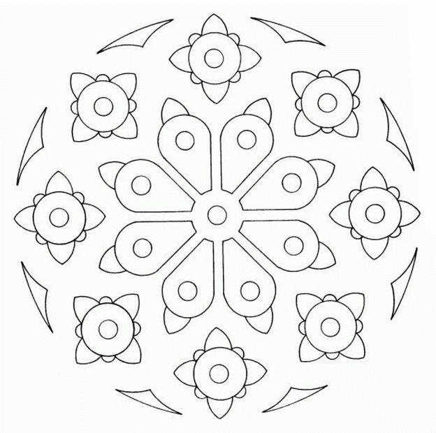 Best Free Simple Mandala Coloring Pages