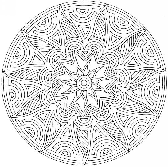 Best Geometric Pattern Coloring Pages For Adults