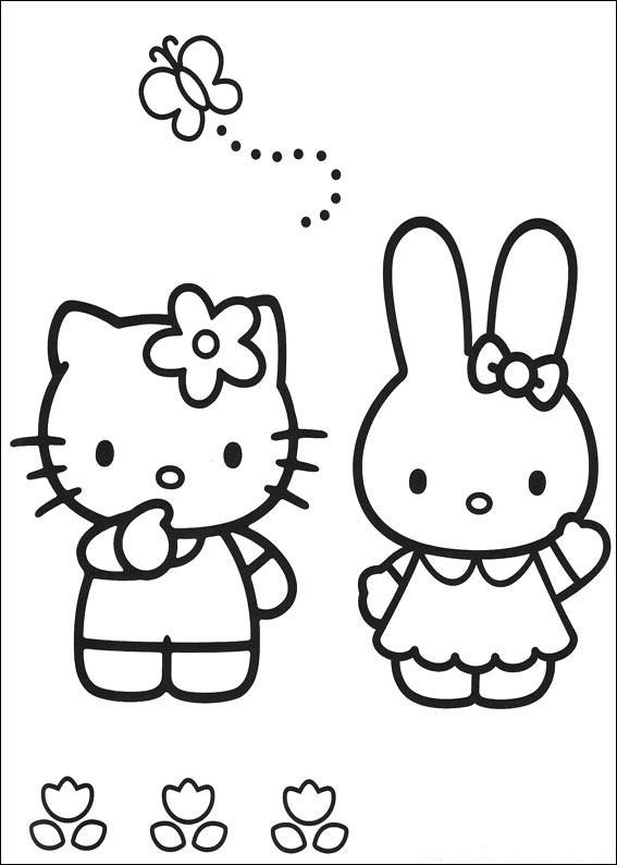 Best Hello Kitty Back To School Coloring Pages