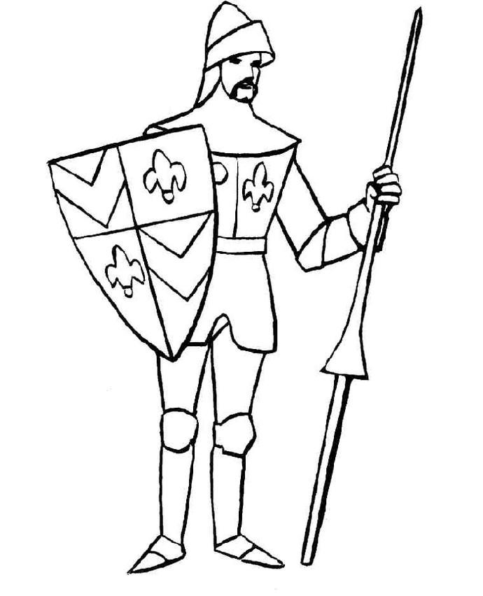 Best Knight Coloring Page Printable