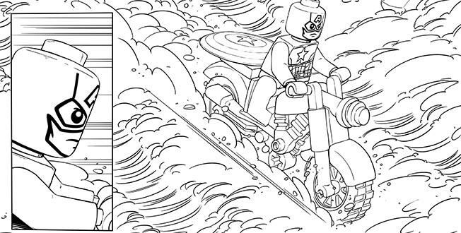 Best Lego Marvel Coloring Pages