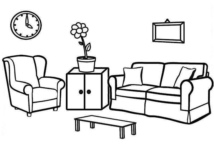 Best Living Room Ideas Coloring Page