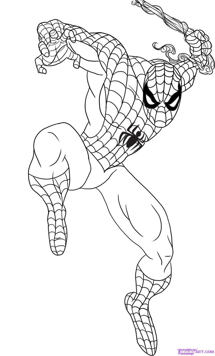 Best Marvel Coloring Pages Spiderman 2