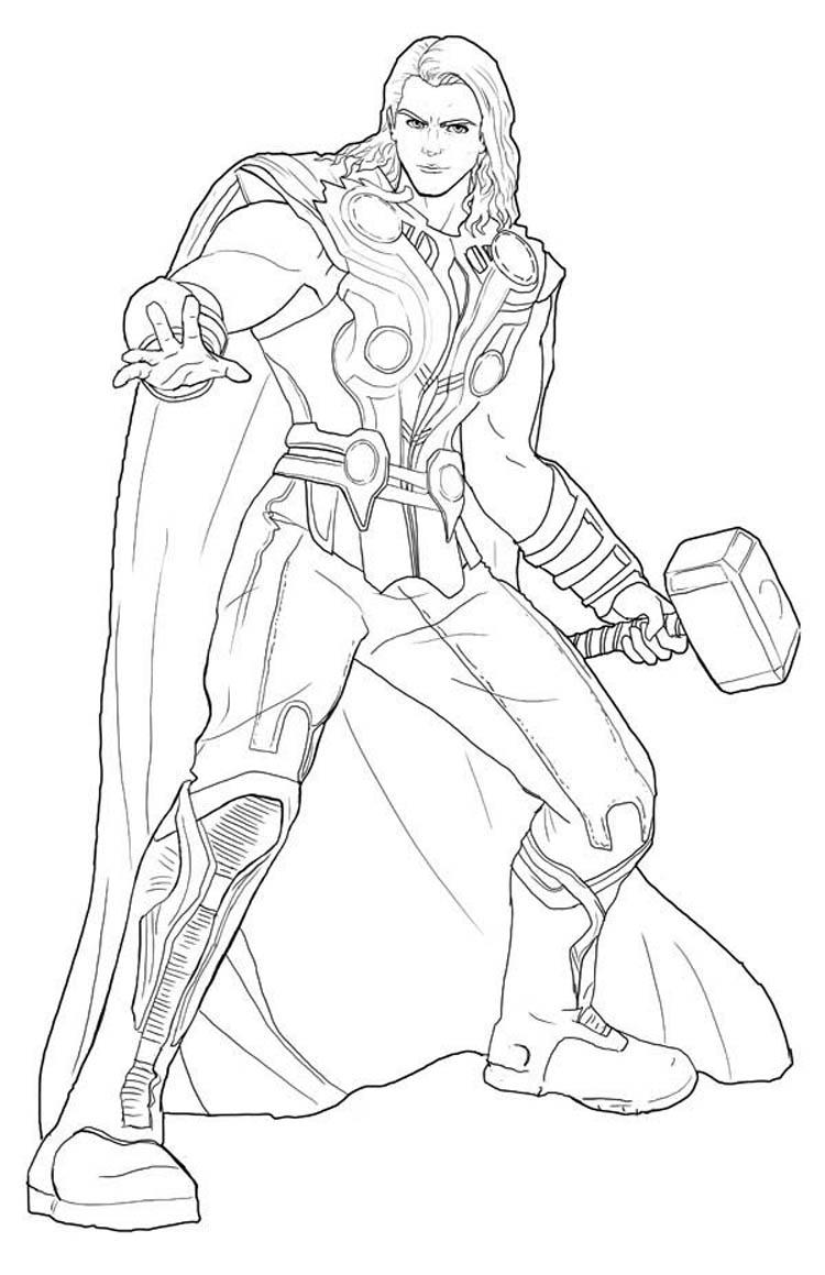 Best Marvel Coloring Pages Thor