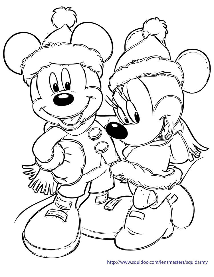 Best Mickey Mouse Christmas Coloring Pages