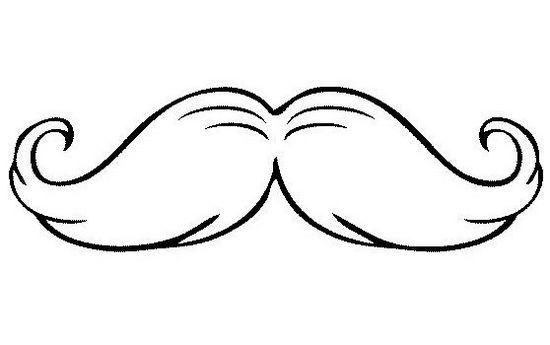 Best Mustache Coloring Page