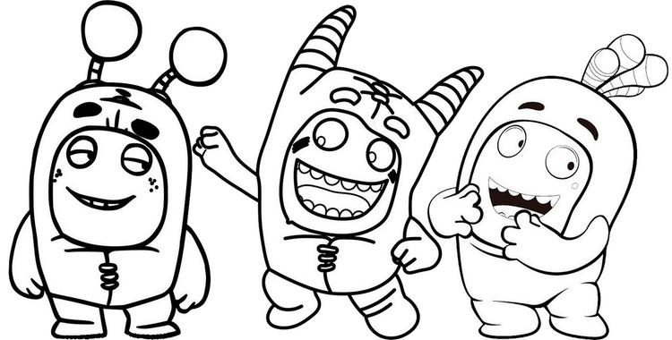 Best Oddbods Coloring Pages For Children