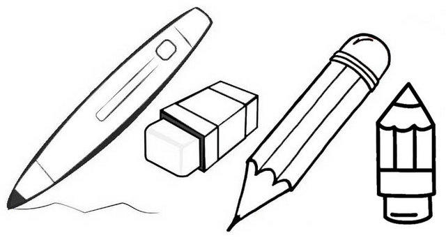 Best Pencil And Erase Coloring Pages