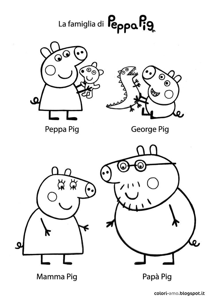 Best Peppa Pig And Friends Coloring Pages
