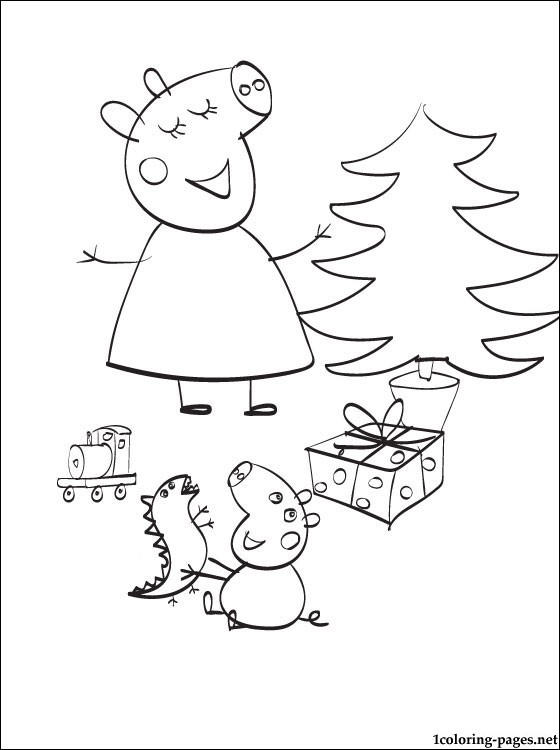 Best Peppa Pig Christmas Coloring Pages