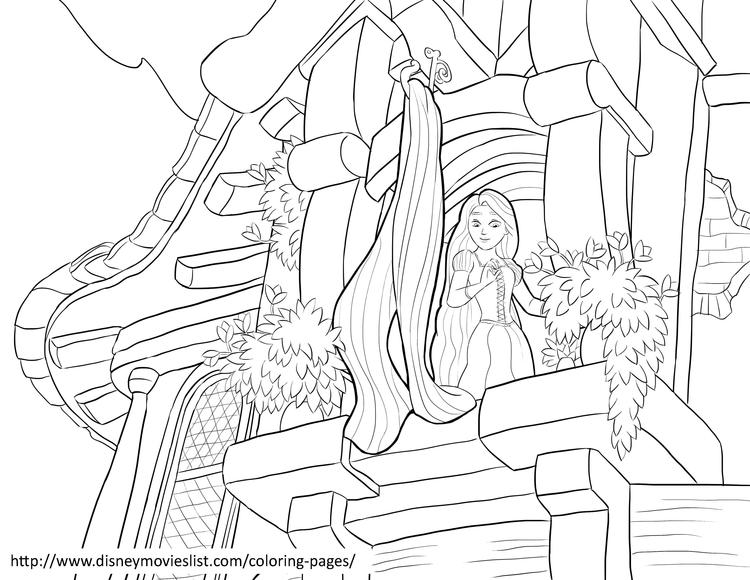 Best Rapunzel Tower Coloring Pages