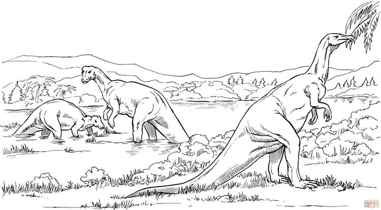 Best Realistic Dinosaurs Coloring Pages 1