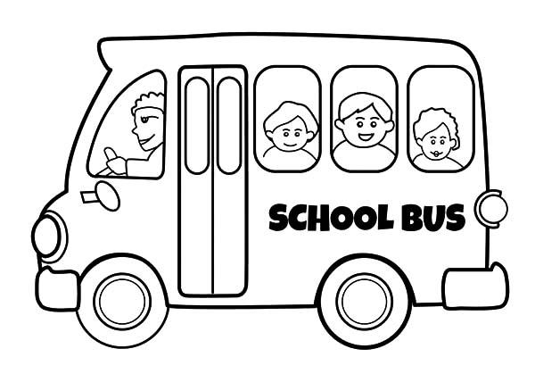 Best School Bus Driver Coloring Pages