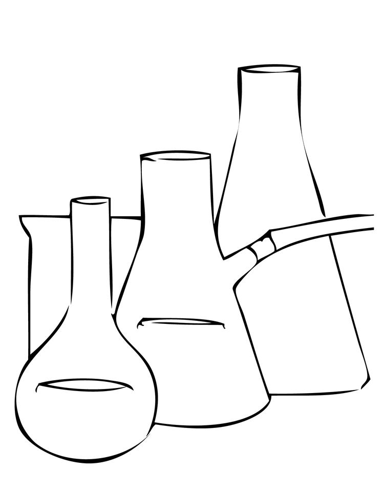 Best Science Beaker Coloring Pages