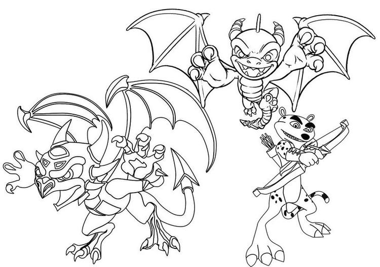 Best Spyro Hunter The Cheetah And Cynder Coloring Page