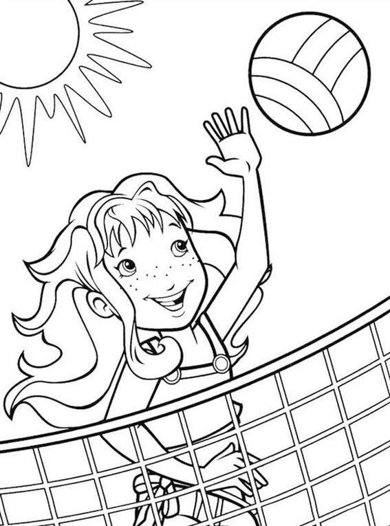 Best Volleyball Coloring Page For Girls