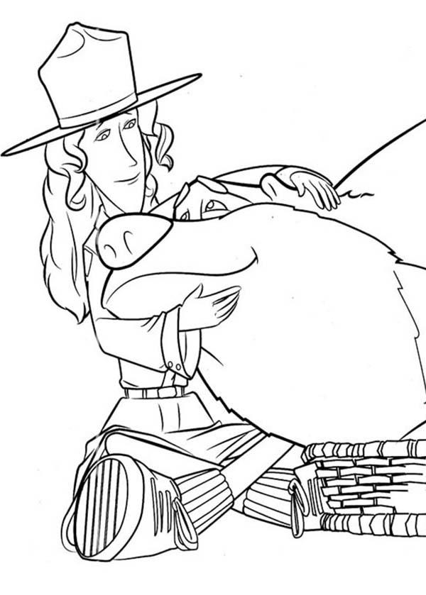 Beth The Ranger Love Boog In In Open Season Coloring Pages