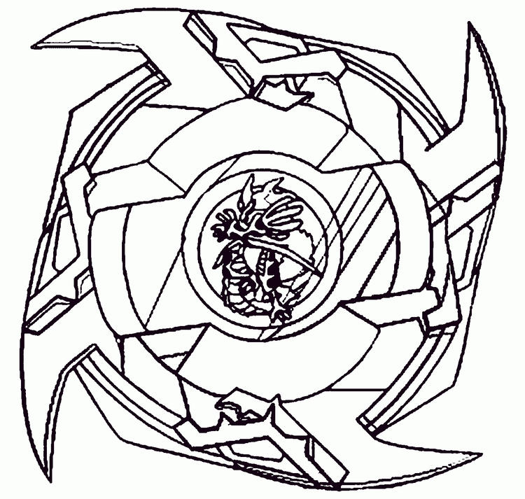 Beyblade Coloring Pages Free