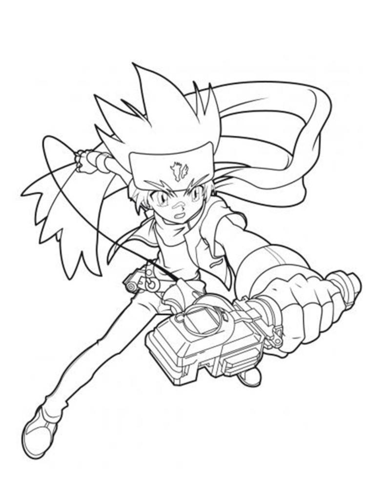Beyblade Coloring Pages Gingka
