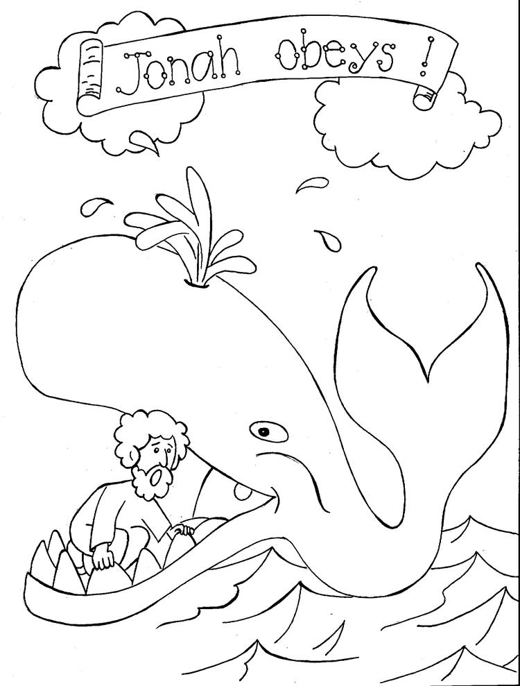 Bible Coloring Pages Jonah And The Fish