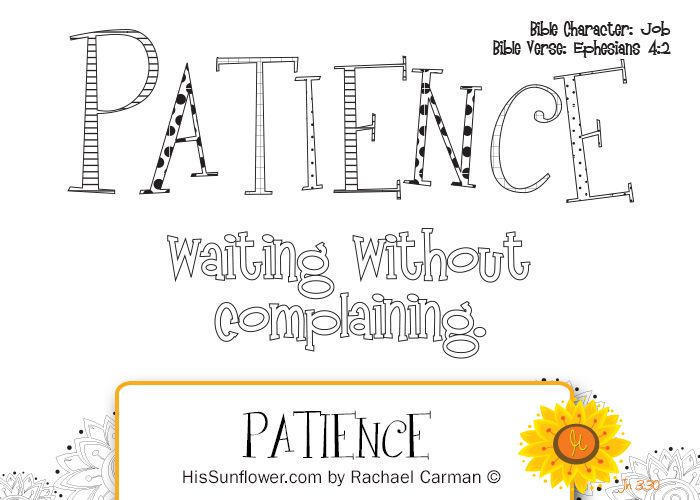 Bible Coloring Pages On Patience