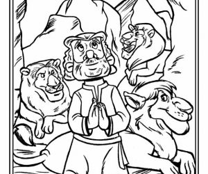 Bible story coloring pages daniel