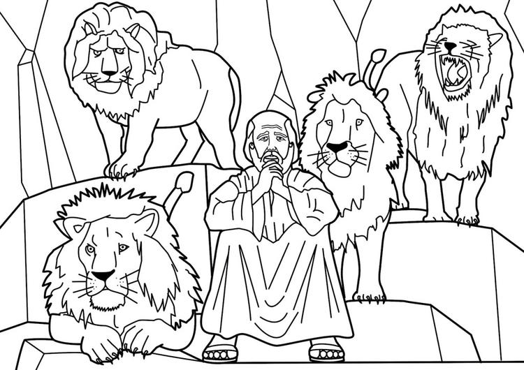 Bible Story Coloring Pages Daniel In The Lions Den