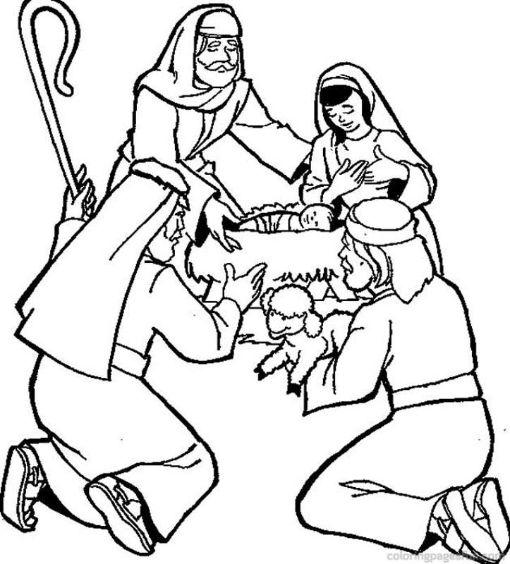 Bible Story Coloring Pages Nativity
